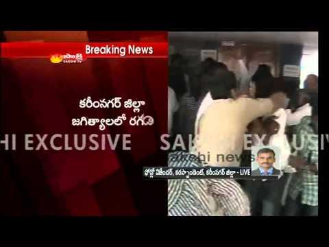 Villagers attack Jagtial Hospital in Karimnagar