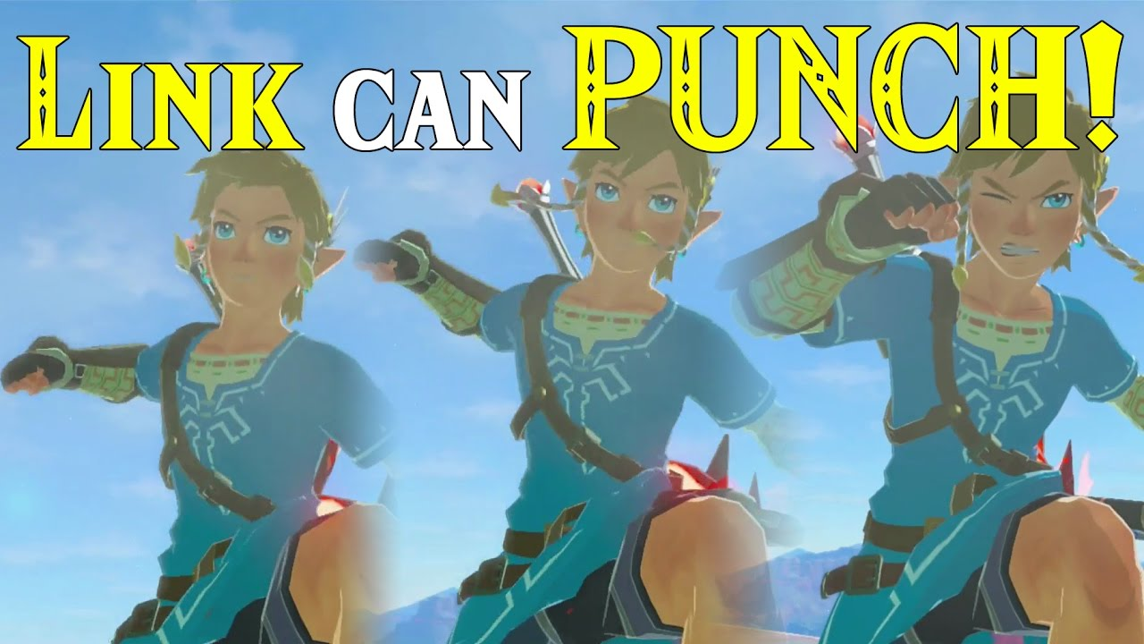 Link Can Punch In Zelda Breath Of The Wild