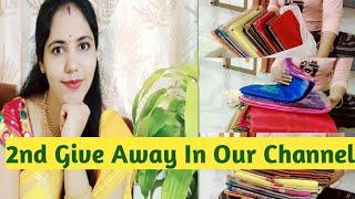 2 nd GIVE AWAY IN OUR CHANNEL||ఈ parcel ఏమిటి||ఎవరు పంపారు🤔||indur creations