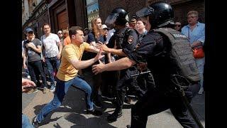 """""""Верните нам выборы!"""". Полиция разогнала акцию в поддержку кандидатов"""