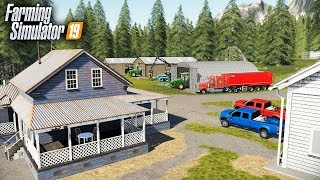 FS19- BUILDING A HOMESTEAD FROM SCRATCH, ALONG THE RIVER | BRIDGE BUILDING SERIES