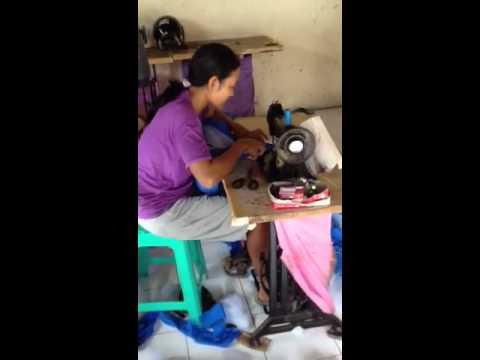 Woman Treadling in Bali, part 2