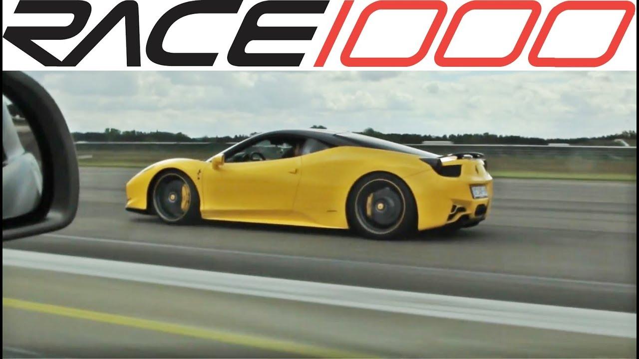ferrari 458 italia vs. mercedes sls amg (60-280km/h) - roll race