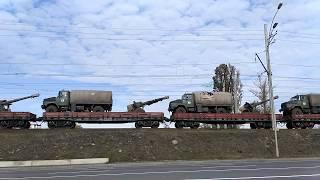 Поезд с военной техникой. Киев. Дарницкий мост.(, 2017-09-11T11:32:13.000Z)