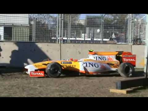 F1 Formula 1 Grand Prix 2009 Melbourne Australia clip 12 of 13 Renault