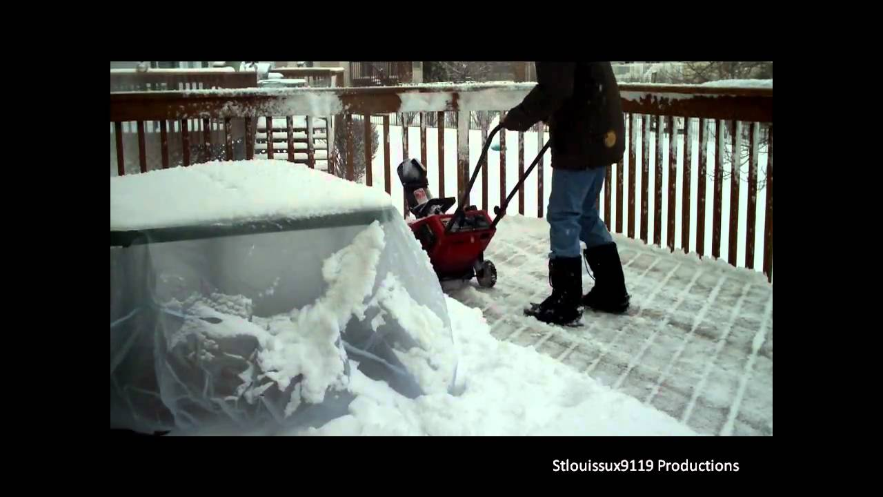 Snow Blower 24 >> Toro CCR Powerlite Snow Blower Removing Snow On Deck - YouTube
