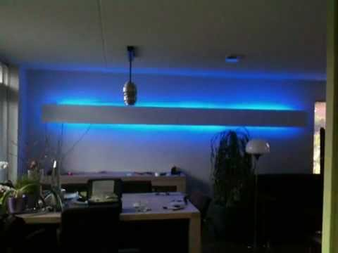 led lamp wand verlichting youtube. Black Bedroom Furniture Sets. Home Design Ideas