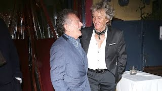 Rod Stewart Puts Fashion First For Dinner In West Hollywood