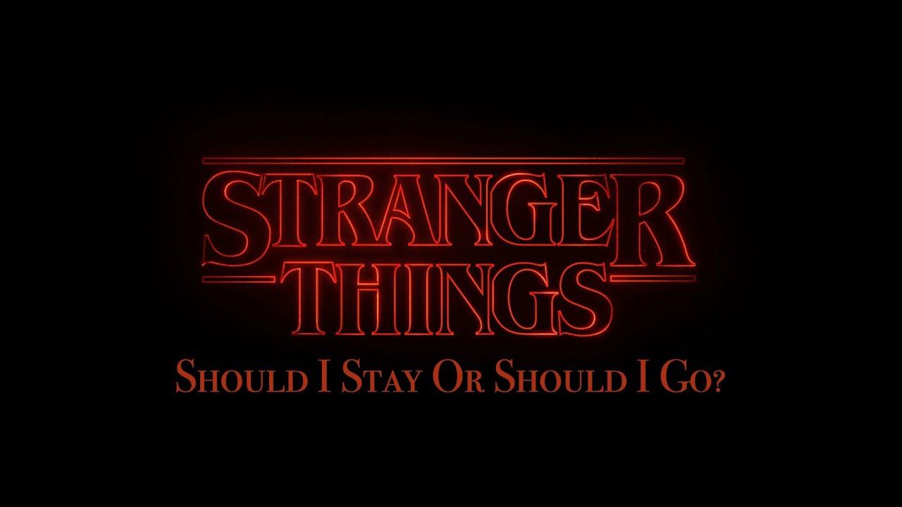 stranger things should i stay or should i go original cover youtube. Black Bedroom Furniture Sets. Home Design Ideas