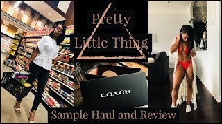 Pretty Little Thing Sample Haul and Review