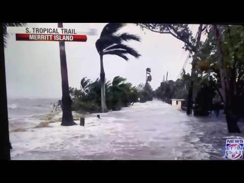 Hurricane Matthew south tropical trail Merritt island
