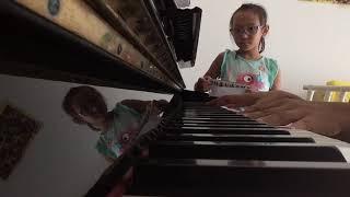 Calie Menyanyikan Lagu Red River Valey | Kursus Piano Jakarta Barat