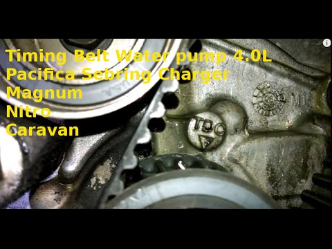 Timing Belt Replacement 2007 Pacifica Sebring Charger 4 0l How To