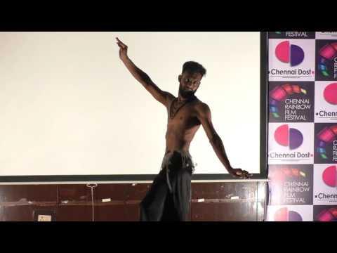 Alex Victor performing in Chennai Rainbow Film Festival 2015