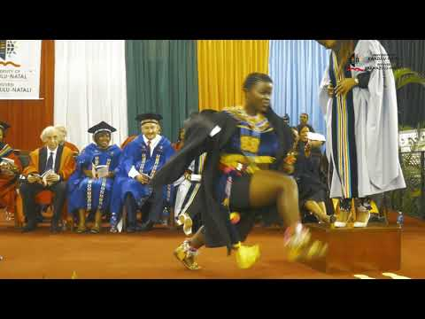 Graduate celebrates with traditional dance