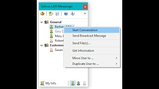 Network messenger for Windows PC. Share files and chat.