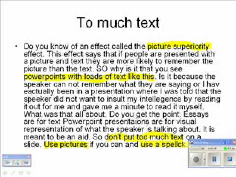 Example of Bad Powerpoint.wmv - YouTube