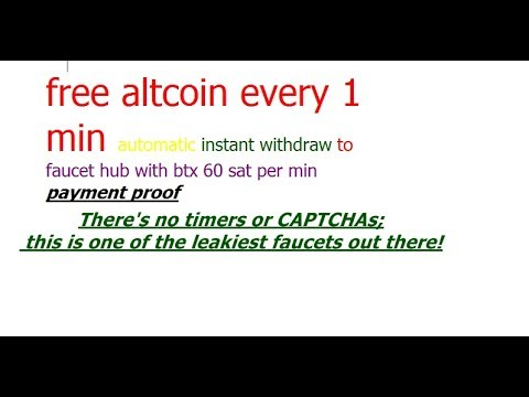 Genuine Top Free Faucet Mining Earn Btx  60 Sat Per Min Instant Automatic Withdraw To Faucethub