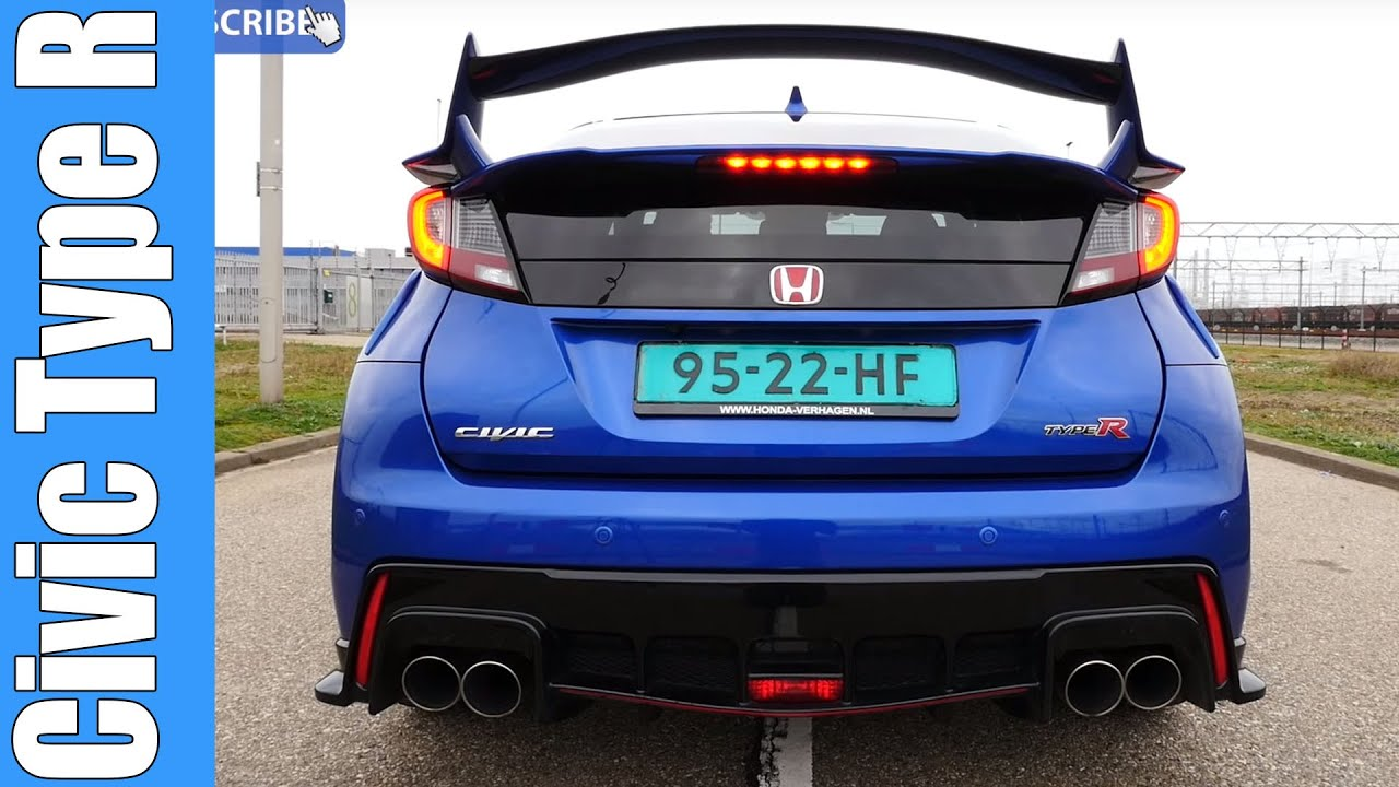 2016 honda civic type r startup revs exhaust sound youtube. Black Bedroom Furniture Sets. Home Design Ideas