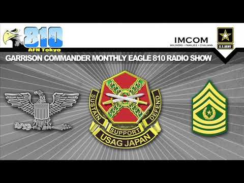 U.S. Army Garrison Japan Commander Monthly Radio Show Mar. 8 2018