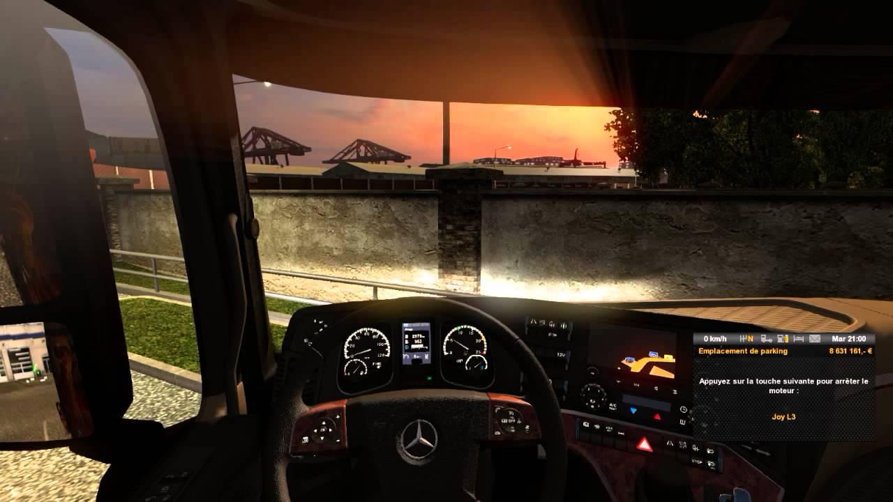 euro truck simulator 2 presentation du patch 1 nouveaux camion mercedes benz. Black Bedroom Furniture Sets. Home Design Ideas