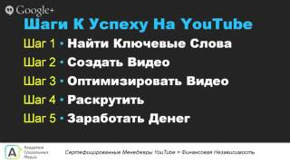 Как создать канал на YouTube? ПОШАГОВАЯ ИНСТРУКЦИЯ.