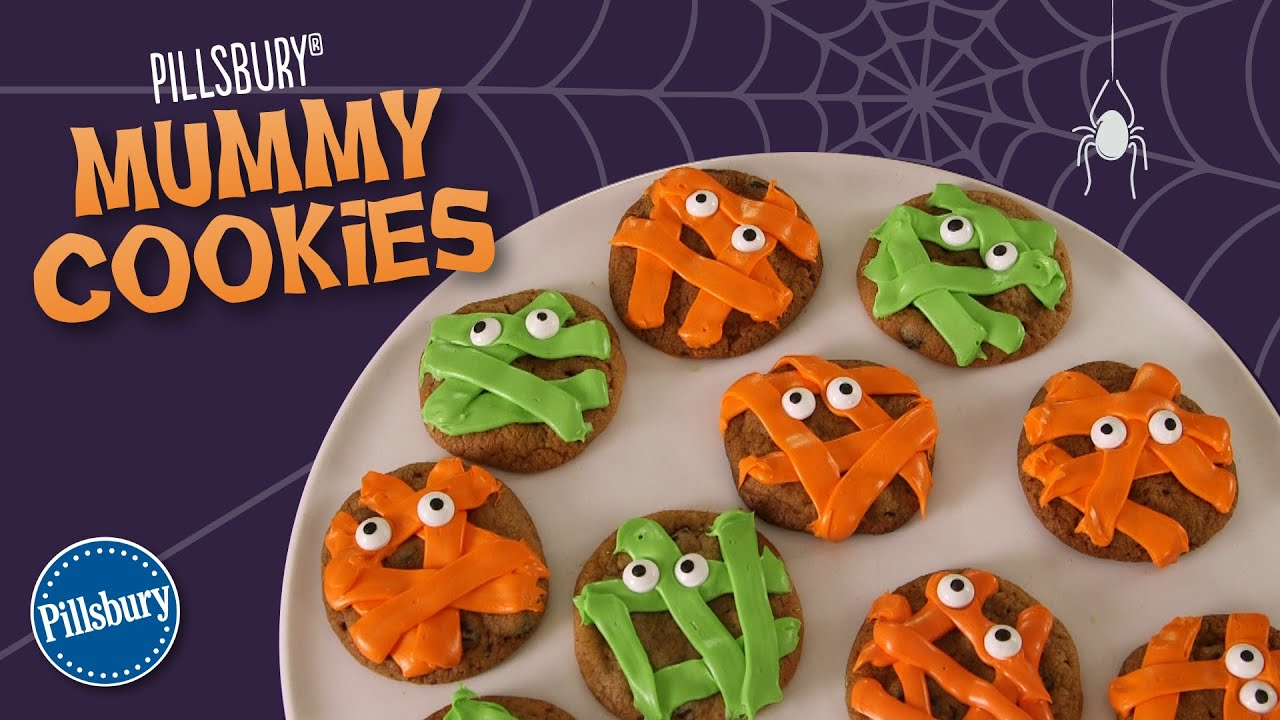 How to Make Pillsbury Mummy Cookies - YouTube