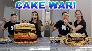 MAKING A MASSIVE CAKE!! (CAKE WAR)
