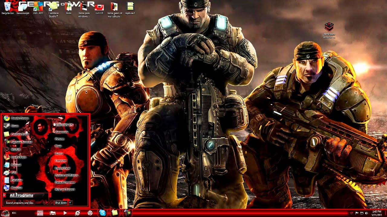 Tema Para Windows 7 De Gears Of War 3