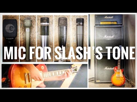 6 Microphones to record SLASH's Guitar Tone!