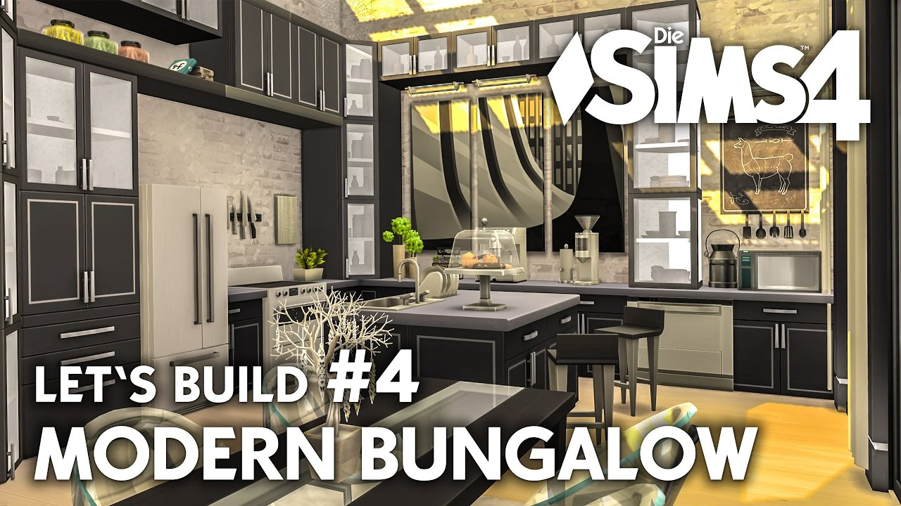 k che einrichten die sims 4 haus bauen modern bungalow 4 let 39 s build deutsch youtube. Black Bedroom Furniture Sets. Home Design Ideas