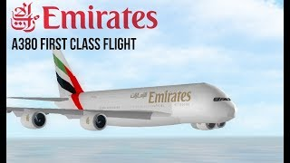 ROBLOX Emirates A380 First Class Flight!