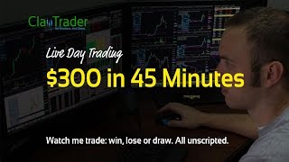 Live Day Trading - $300 in 45 Minutes