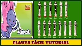 Mariposita - Gallina Pintadita en Flauta Dulce
