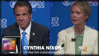 DIRTY Dem Andrew Cuomo Just got OWNED By Actress Cynthia Nixon In BRUTAL Live Debate