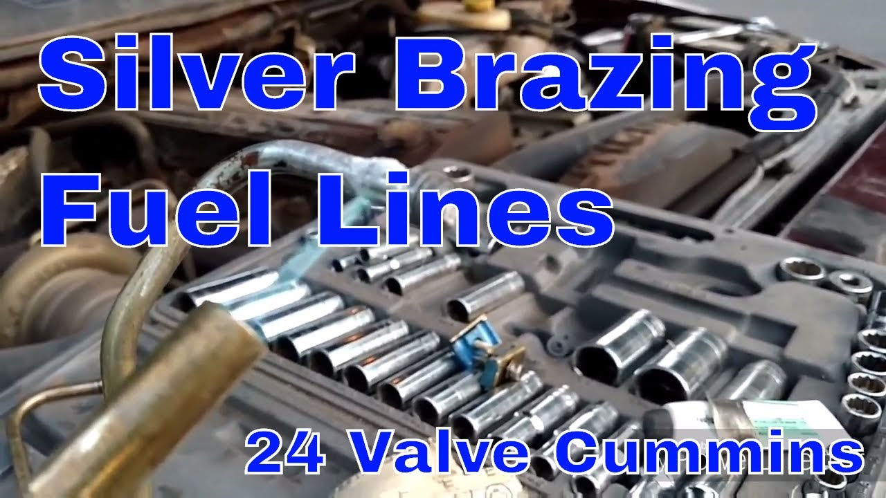 24 valve Cummins fuel line soldering