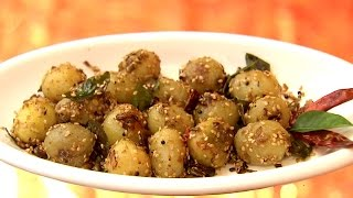 Dhe Ruchi EP-14 18/11/16 Sesame aalu & Chicken koorka paal curry Recipe