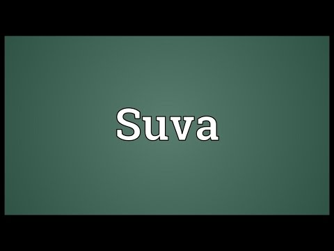 Suva Meaning