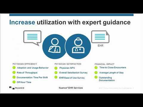 Optimize the EHR with Nuance EHR Services