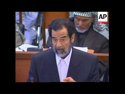 WRAP Saddam claims he has been beaten during US detention