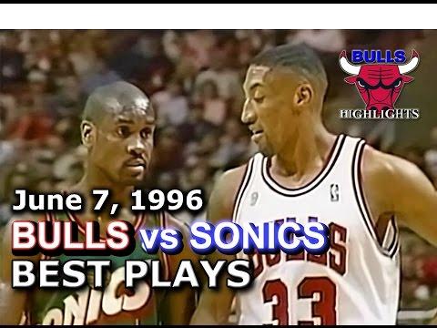 June 07 1996 Bulls vs Sonics game 2 highlights
