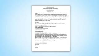 Jobspot - Preparing a CV