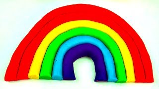 Play-Doh Easy Rainbow - Learn how-to Make Playdough Rainbow Colors Easy DIY Fun Ideas FluffyJet
