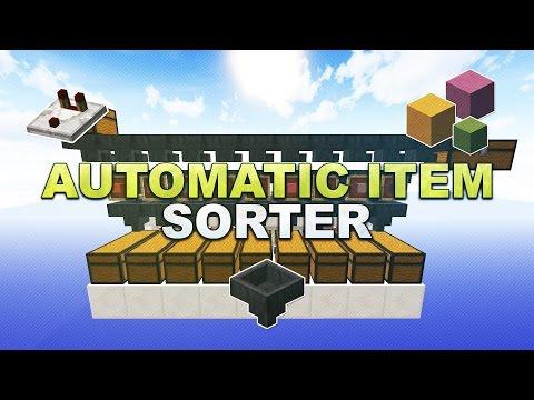 Minecraft - Automatic Item Sorter // Sortiermaschine (Overflow Protection & Silent) - Tutorial 1.14