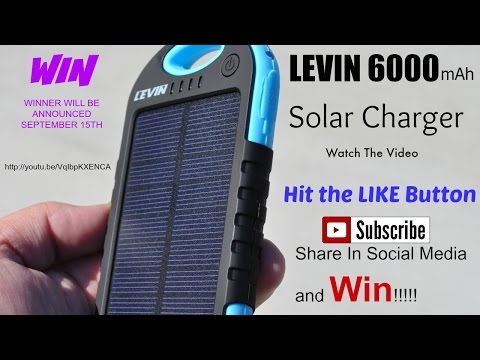 Best power brick Solar Charger for cell phones?  iPhone and Android phone. Levin 6000mAh
