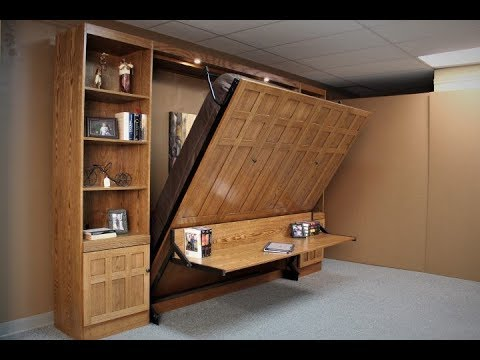 frank lloyd wright inspired king murphy bed youtube. Black Bedroom Furniture Sets. Home Design Ideas