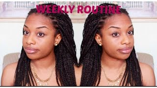 how to refresh box braids twists   weekly routine