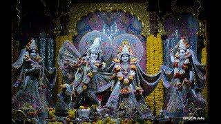 Sringar Arati Darshan Sri Sri Radha Rasbihari Temple 16th Jan 2019 Live from ISKCON Juhu, Mumbai
