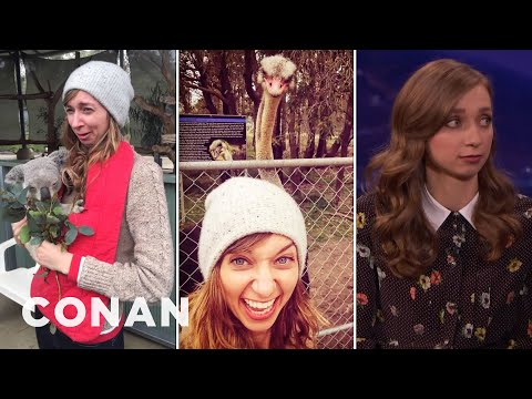 Holding A Koala Made Lauren Lapkus Cry   CONAN on TBS