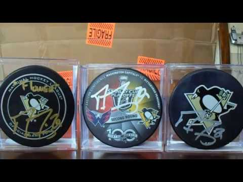 Pittsburgh Penguins Autograph Hockey Puck Collection from 1993 94 to 2016 17 Seasons